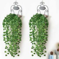 7.87 ft Ivy Artificial Leaf Garland Plants Fake Vine Foliage Home Garden Decor