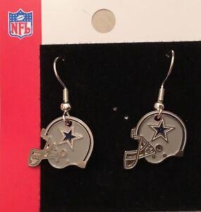 Dallas Cowboys Helmet Logo J Hook Earrings  NEW
