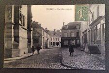 CPA. MAULE. 78 - Rue Quincampoix. 1920. Maison Belorgey. Epicerie Phestrot. Café