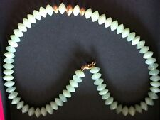 18 Ct Yellow gold Green Jade Necklace 18 Inches, ,51.2 G,not scrap