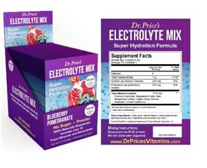 Dr. Price's Electrolyte Mix Packets Blueberry Pomegranate - 30 Packets