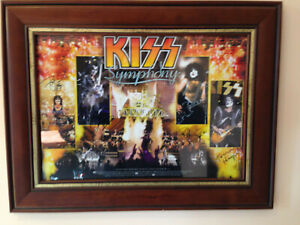 Vintage kiss Symphony Telstra Dome 2003 SIGNED Poster