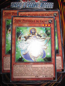 YU-GI-OH! COM CLERC PSYCHIQUE DU CALME LOT DE 3 (PLAYSET) HSRD-FR050 MINT