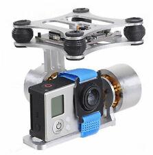 CNC FPV BGC 2 Axis Brushless Gimbal +Controller für GoPro 3 Kamera DJI Silber