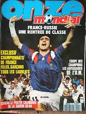 Onze n°54 (juil 1993) France-Russie - Adversaires de l'O.M- Poster - Fiches