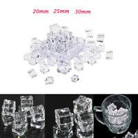 50 pezzi di cubetti di ghiaccio finto acrilico per la tavola della festa di