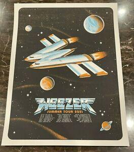 Official WEEZER Tour Event Poster Hella Mega Tour Denver CO 8/25/21