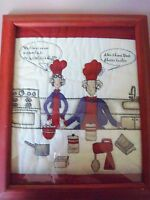 """RED HAT SOCIETY COOKING PICTURE 11 1/2"""" X 9"""" EXCELLENT CONDITION"""