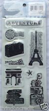 """Cloud 9 Design TRAVEL Rubber Cling Stamps - 4"""" x 8""""  Brand New"""