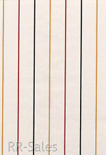 Black Red Stripes White with Thin Yellow Boys Mens Sports Double Rolls Wallpaper