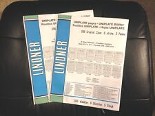 Lindner Uniplate Clear Pages 2 Packages New Unopened 096 6 Strips 5 Pages Each |