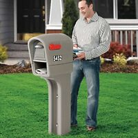 Extra Large Mailbox Post Box Locking Mail Storage Organizer Outdoor Cast Package