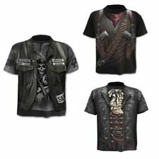 Fashion Men's Funny Skull 3D Print T-Shirt Casual Short Sleeve Tops Male Tee