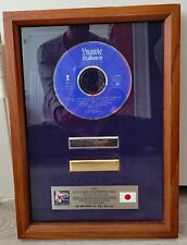 Yngwie Malmsteen Fire and Ice  Japan 1992 Gold and Platinum Disc Award Plaque