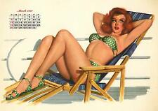 March 1950 Pinup calendar from Esquire  8 x 10 Giclee-Iris print