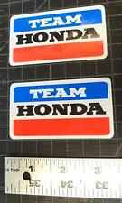 "2x Vintage Team Honda 3.25"" Decals Stickers Graphics ATV ATC CR Z50 200e 125"
