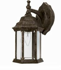 "NOS Capital Lighting 12"" Outdoor Wall Lantern Sconce, Tortoise Brown, 9830TS"