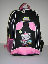 DISNEY CUTIES MARIE KITTEN BLACK PINK WHITE SLING BACKPACK GUC W/DEFECT