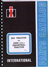 """International """"354"""" Illustrated Tractor Parts Manual"""