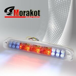 99-14 F250 F350 Ranger Chrome Clear Third 3rd Brake light LED Signal Stop Lamp