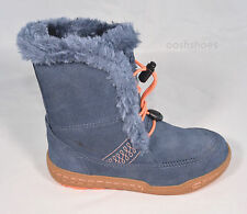 Ecco Girls Waterproof Hydra-Max Blue Suede Speedlace Boots UK 12.5 EU 31