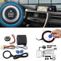 Car Keyless Entry Start Stop Anti-theft Alarm Engine Push RFID Starter Ignition