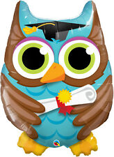 "GRADUATION PARTY SUPPLIES 34"" GRADUATION OWL WITH MOTAR BOARD HAT FOIL BALLOON"