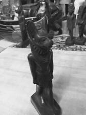 Vintage Egyptian Statue God Anubis  Hand Carved  1980 Made in Egypt