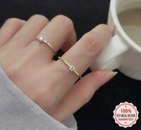 Damen Ring Echt 925 Sterling Silber Silberring Zirkon Stein Damenring Geschenk.