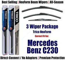 3pk Wipers Front/Rear NeoForm fit 2002-2003 Mercedes-Benz C230 - 16240/220/30160