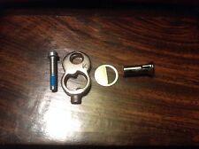 """Five (5) SETS American Padlock Repair kit Security Nut, Screw, """"K"""" Cover Plate*"""