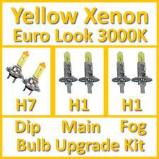 Warm White 3000K Yellow Xenon Headlight Bulb Set Main Dip Fog H7 H1 H1 Kit