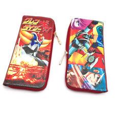 UFO Robot Grendizer Purse long PU Bifold Coin Bag Photo Holder Anime Wallet Gift