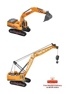 Construction Vehicles Digger Or Crane Toy