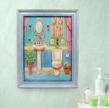 Home Decor Wall Painting Picture Canvas Wooden Frame Wall Art Powder Room Design