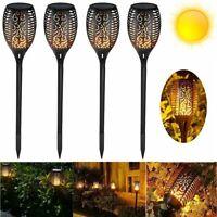 4 Pack Solar Flickering landscape Lamp LED Dancing Flame Torch Yard Garden Light