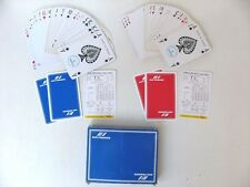 2 JEUX DE 54 CARTES AIR FRANCE rouges et bleues / DUSSERRE PLAYING CARDS