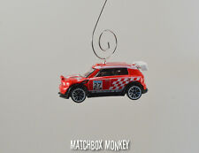 RARE Custom Mini Cooper Rally Christmas Ornament 1/64 Racing Morris Austin World