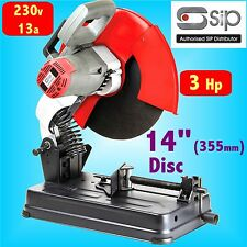 SIP 01308P 230v 3HP 14 Abrasive Metal Cutting Circular Chop Saw steel box bar