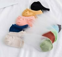 5 Pack Women Cotton Ankle Ultrathin No Show Low Cut Fashion Lace Boat Socks Lot