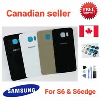 Back battery Glass Cover Replacement For Samsung Galaxy S6 S6 edge with adhesive