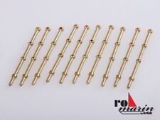 Robbe Relingstütze 25mm 3 Durchzuglöcher Messing (10 Stück) #ro1511