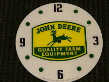 "*NEW*14.25"" JOHN DEERE FOUR LEG ROUND GLASS FACE FOR PAM CLOCK"