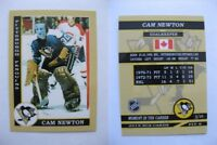 2015 SCA Cam Newton Pittsburgh Penguins goalie never issued produced #d/10