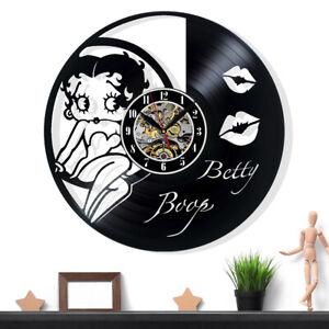 Betty Boop Vinyl Record Wall Clock Gift Surprise Ideas Friends Birthdays Decor