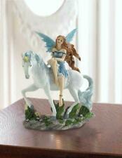 Blue Fairy And Unicorn Figurines