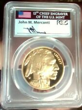 2017 W GOLD BUFFALO PCGSPR70DCAM FIRST DAY MERCANTI SIGNED