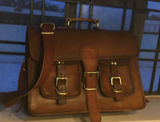 Vintage Messenger Satchel Leather Shoulder Business Laptop Office Bag Carry on
