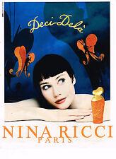 PUBLICITE ADVERTISING 025  1997  DECI-DELA parfum NINA RICCI par J. LARIVIERE