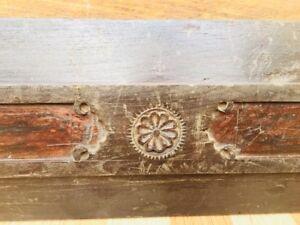 Ancient Rare Wood Fine Hand Carved Beautiful Design Door Panel
